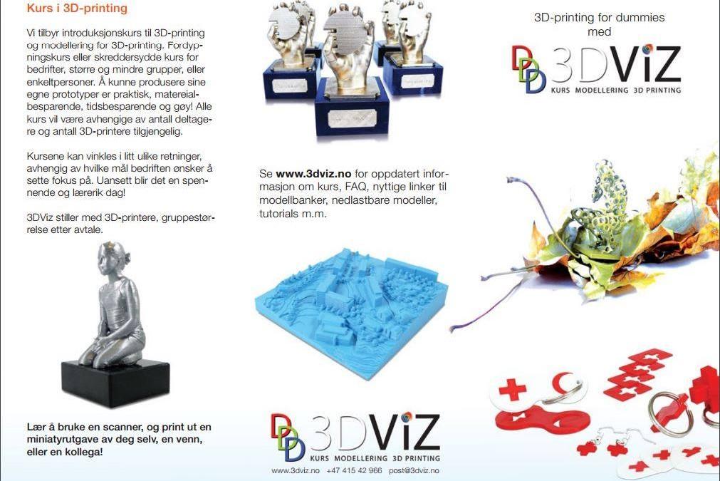 Kurs i 3D print lørdag 1. oktober kl 11-14