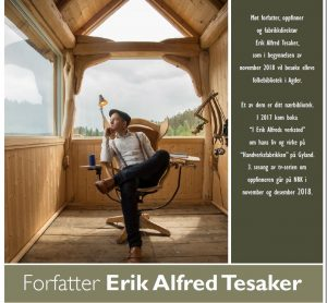 Forfatterturnè med Erik A. Tesaker