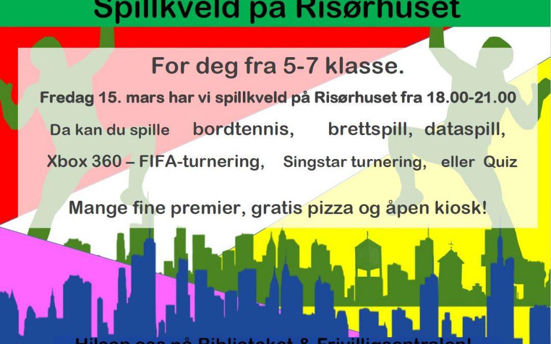 Spillkveld på Risørhuset fredag 13. mars